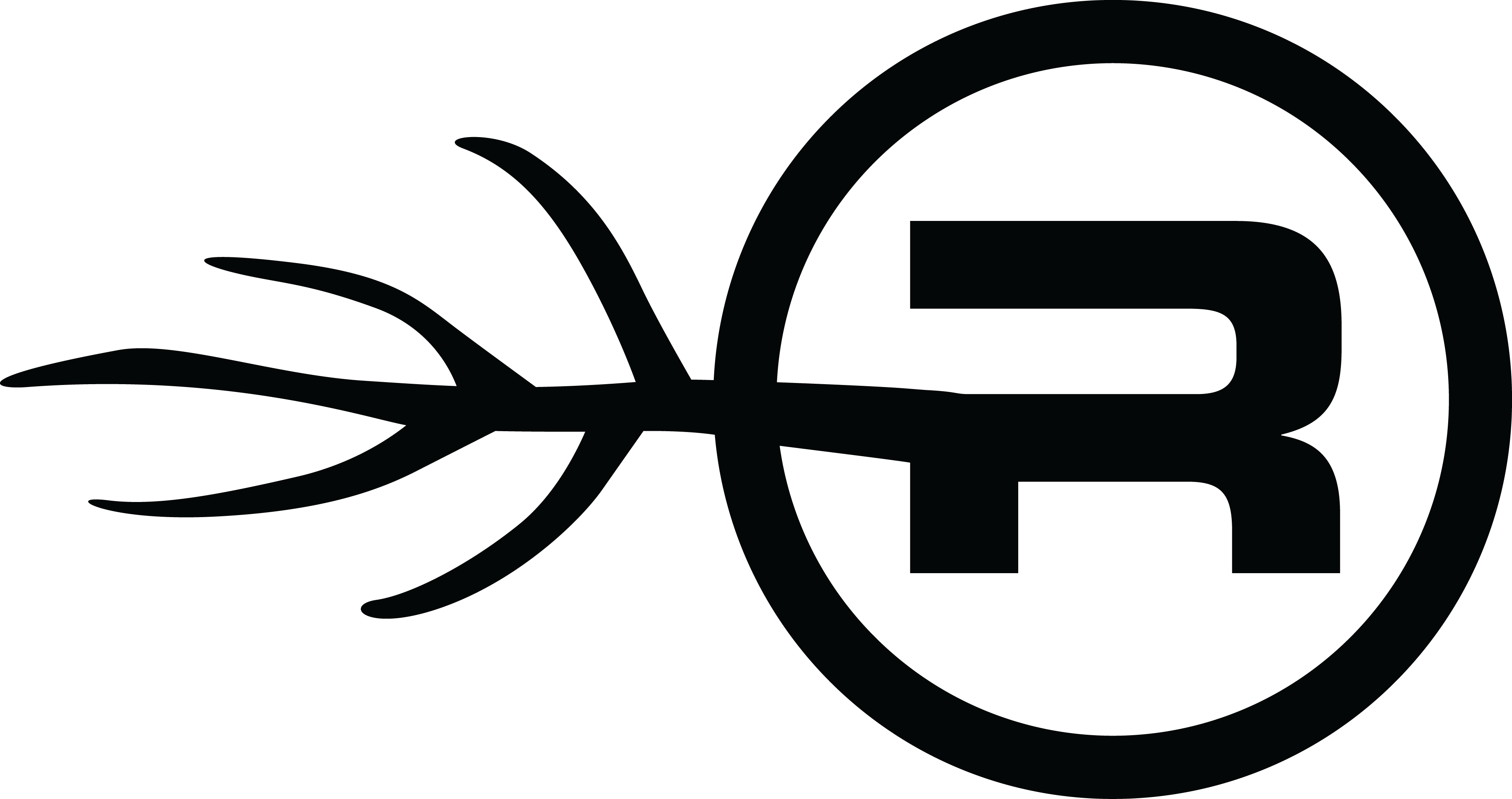 the official RCSG logo, a black letter R surrounded by a circle, with a branch coming out